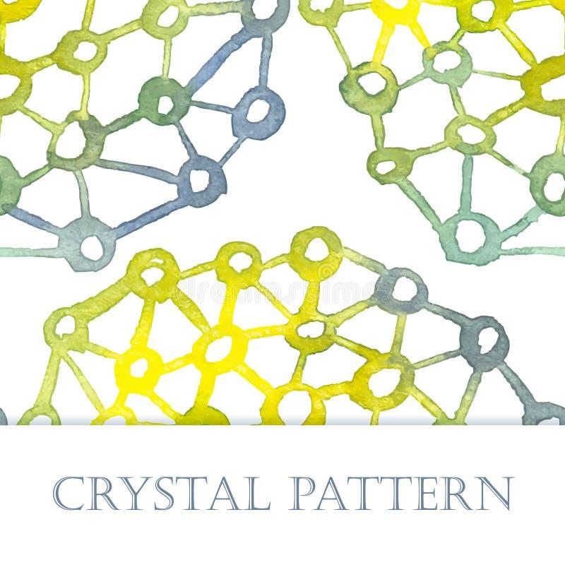 Het patroon van de kristalwaterverf royalty-vrije illustratie