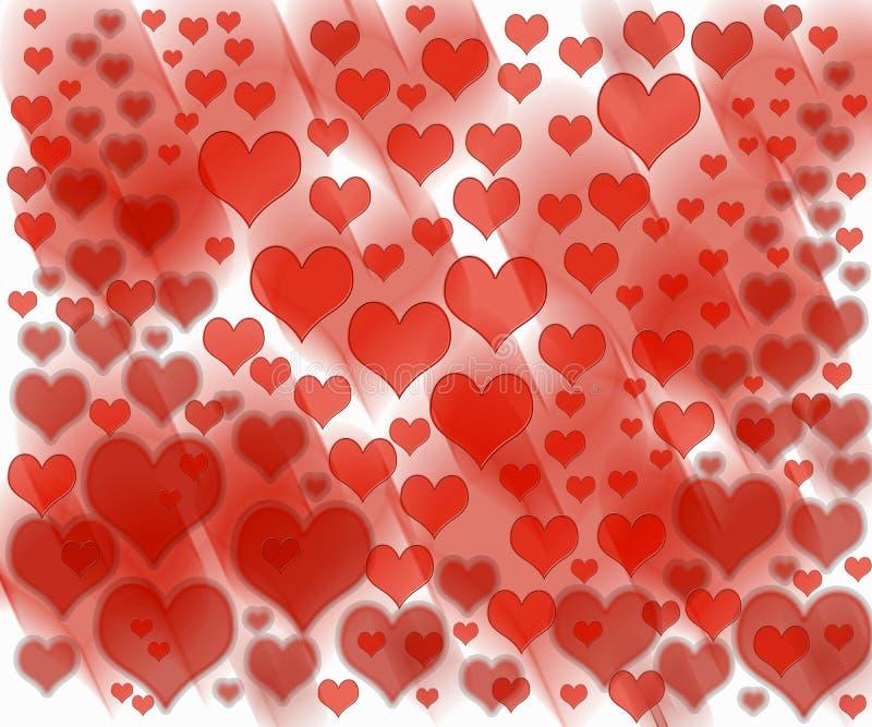 Het patroon van de liefdegolf vector illustratie
