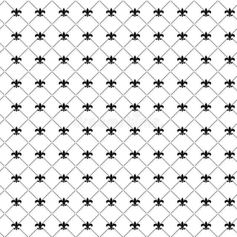 Het patroon van DE lis van Fleur Het naadloze patroon van Mardigras Carnaval-Achtergrond Vette Dinsdag vector illustratie