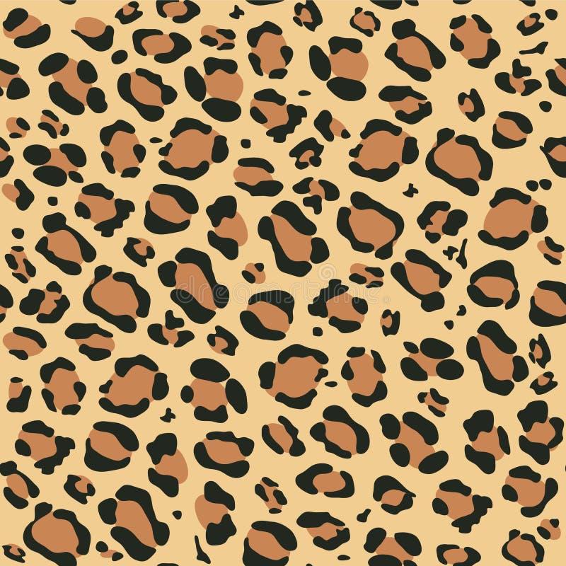 Het patroon van de luipaard stock illustratie