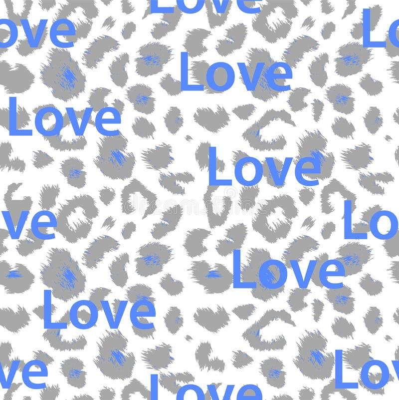 Het Patroon van de luipaarddruk Het herhalen van naadloze vector stock illustratie