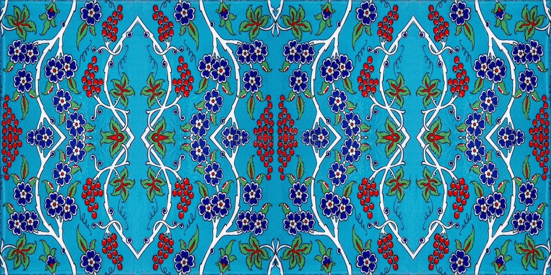 Het patroon van de mozaïektegel, Islamitisch motief stock foto's