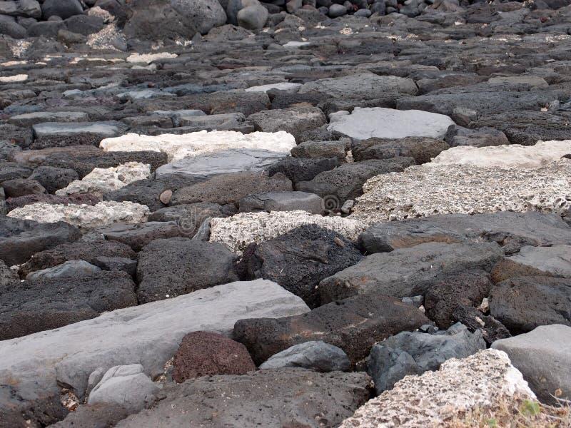 Het Patroon Van De Muur Van De Rots Van De Lava Stock Afbeeldingen