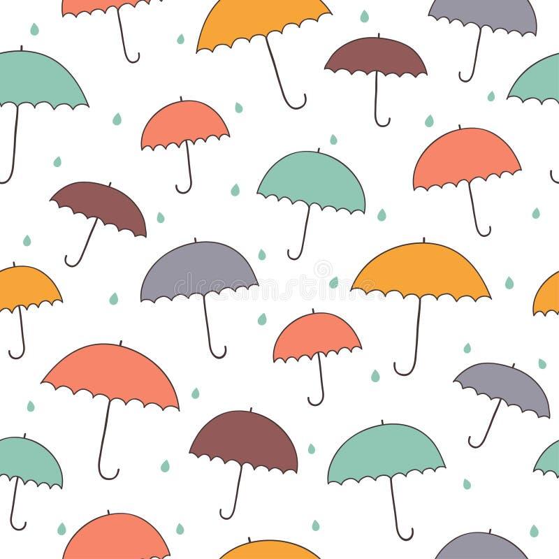 Het patroon van de paraplu royalty-vrije illustratie