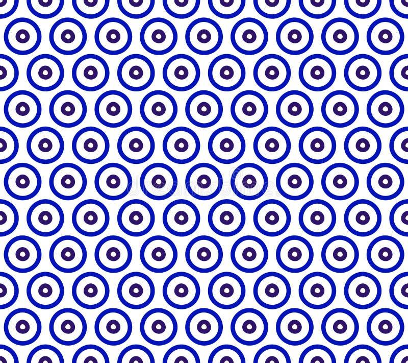 Het patroon van de porseleinindigo royalty-vrije illustratie