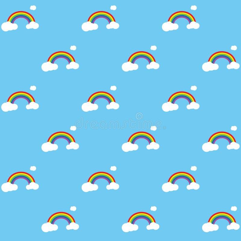 Het Patroon van de regenboog vector illustratie