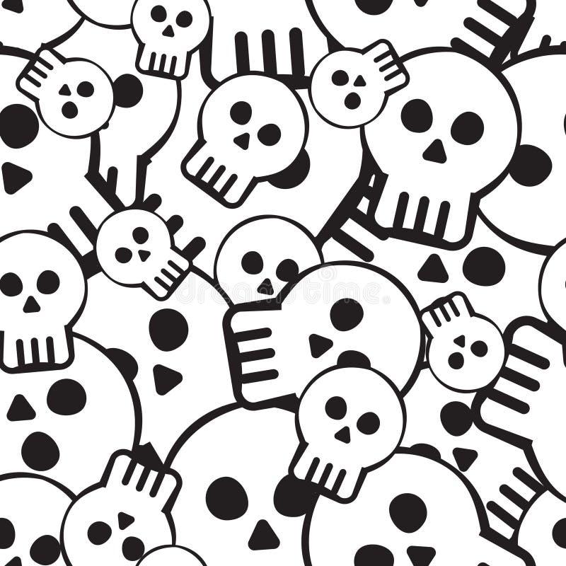 Het patroon van de schedel royalty-vrije illustratie