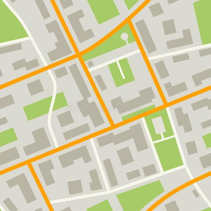 Het patroon van de stadskaart royalty-vrije illustratie