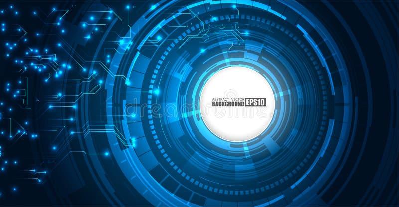 Het Patroon van de de Technologieboom van de kringsraad abstract van het de kringsontwerp van FI van technologiesc.i de innovatie stock illustratie