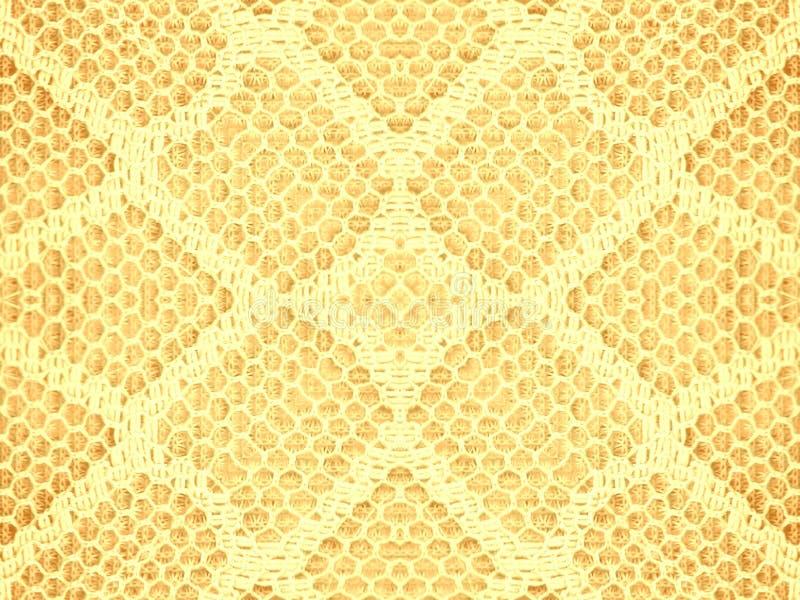Het Patroon van de Textuur van het kant in Goud stock afbeeldingen
