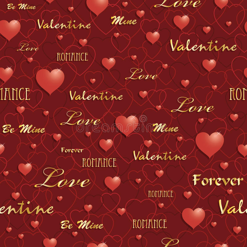 Het patroon van de valentijnskaart stock illustratie