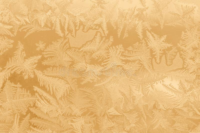 Het patroon van de vorst op een venster stock afbeeldingen