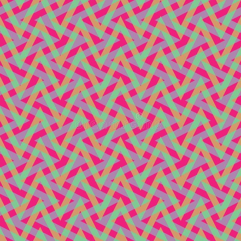 Het Patroon van de zigzagplaid royalty-vrije illustratie