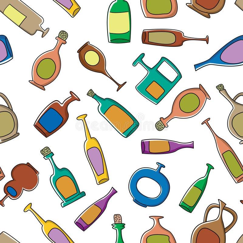 Het patroon van flessen stock illustratie