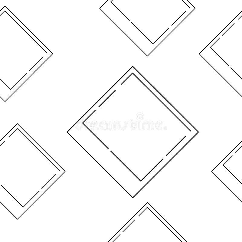 Het patroon van fotokaders Plakboekontwerp Neem uw beeld op stock illustratie