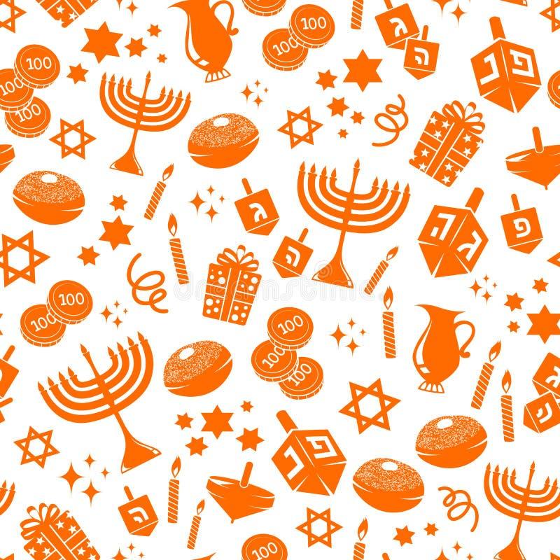 Het patroon van Hannukah vector illustratie
