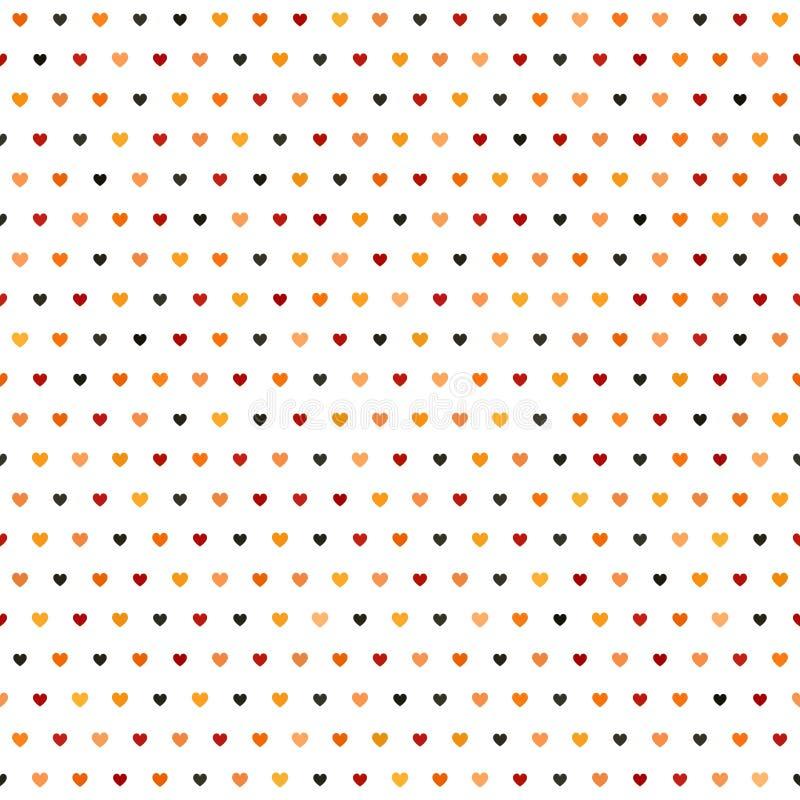 Het Patroon van het hart Naadloze vector stock illustratie