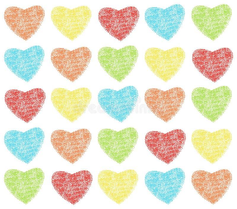 Het patroon van harten royalty-vrije illustratie