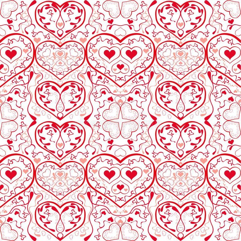 Het patroon van harten stock illustratie
