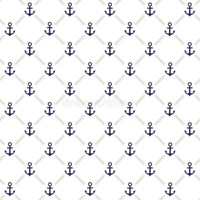 Het patroon van het anker stock illustratie