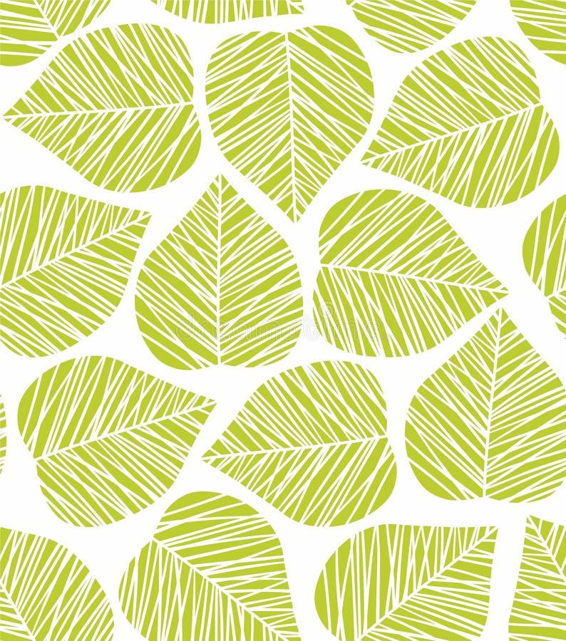 Het patroon van het blad vector illustratie