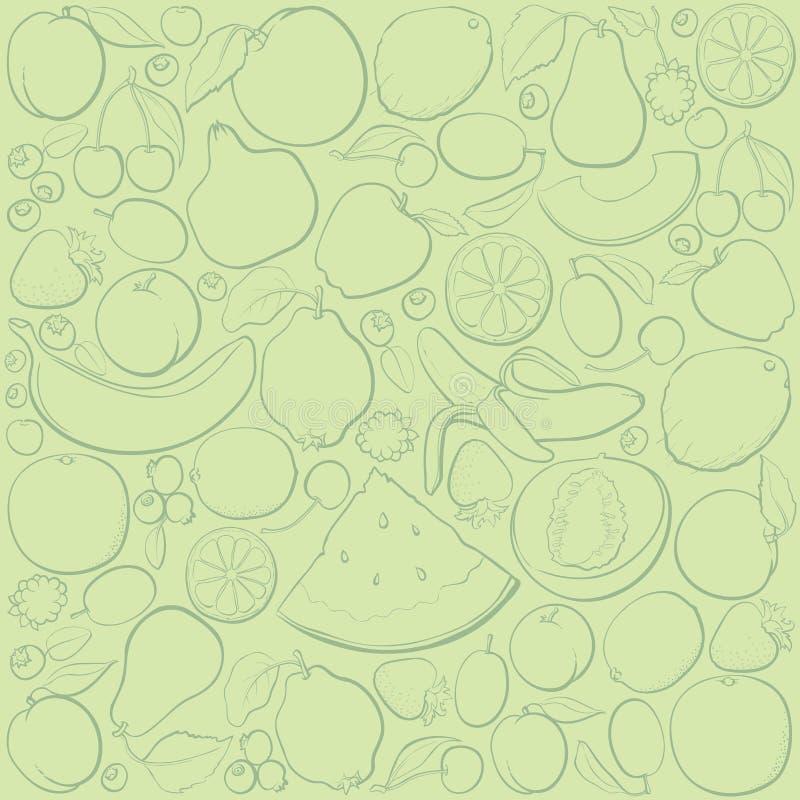 Het patroon van het fruit vector illustratie