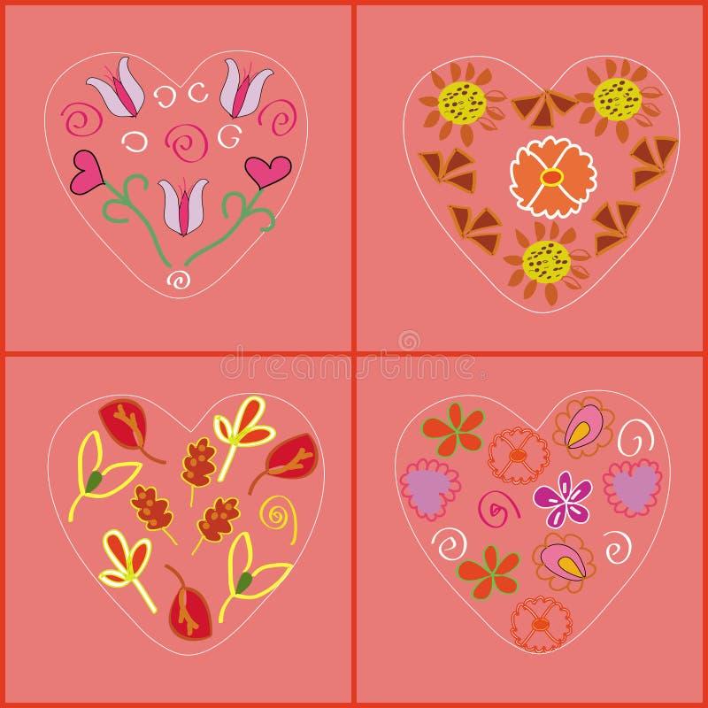 Het patroon van het hart stock illustratie