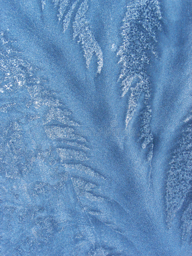 Het patroon van het ijs op het venster royalty-vrije stock afbeelding