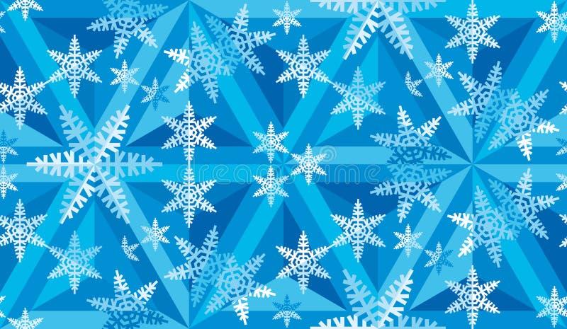 Het Patroon van het Kerstmismozaïek van Snowflakes_09 stock afbeeldingen
