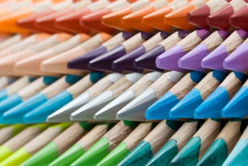 Het Patroon van het kleurpotlood stock foto's