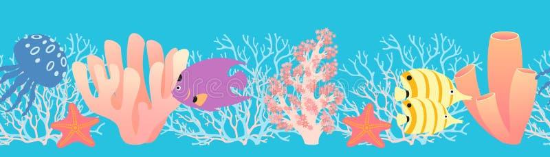 Het patroon van het koraalrif royalty-vrije illustratie