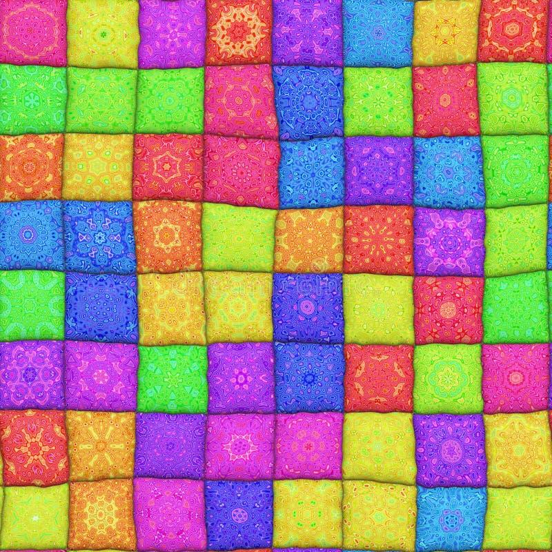 Het patroon van het lapwerk stock illustratie