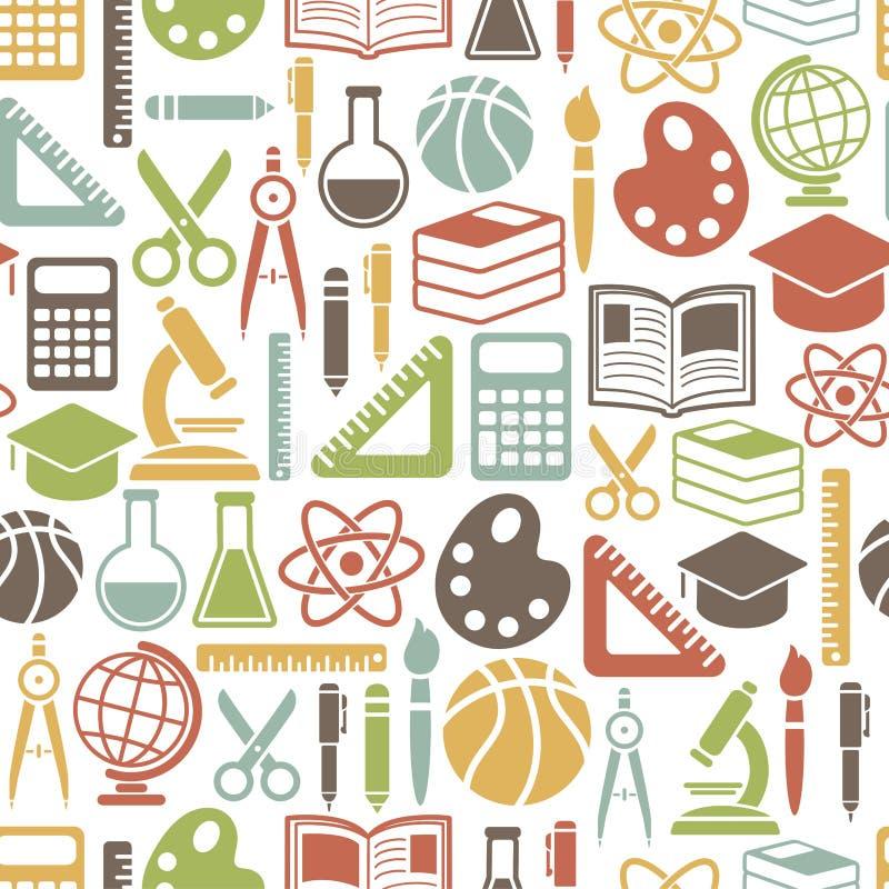 Het patroon van het onderwijs stock illustratie
