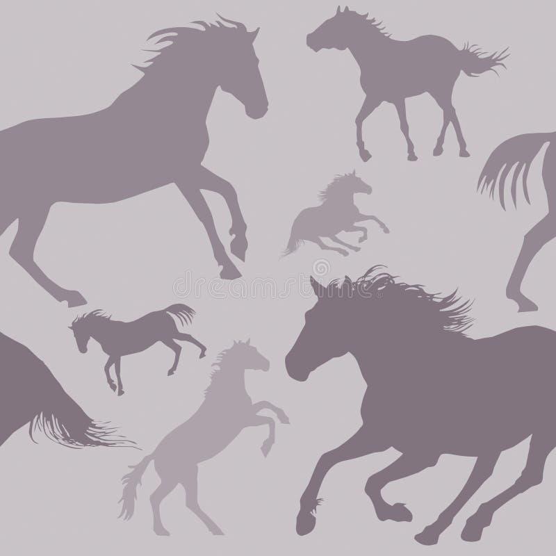 Het Patroon van het paard vector illustratie