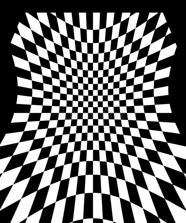 Het patroon van het schaakbord stock illustratie