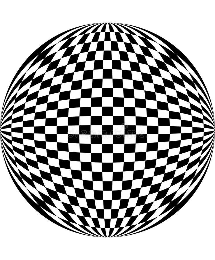 Het patroon van het schaakbord royalty-vrije illustratie
