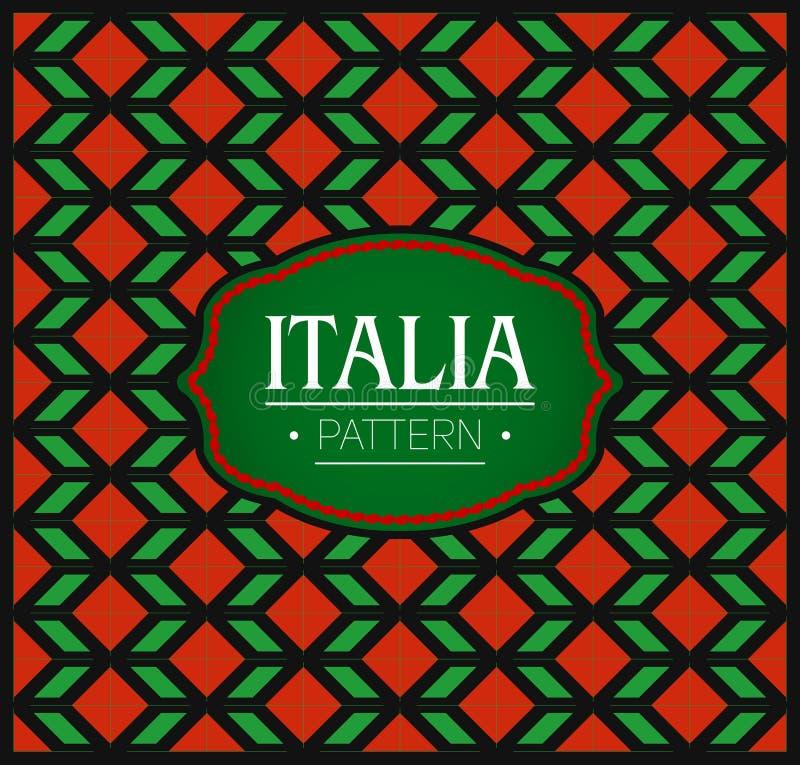 Het Patroon van Italië, Naadloze textuur Als achtergrond en embleem vector illustratie