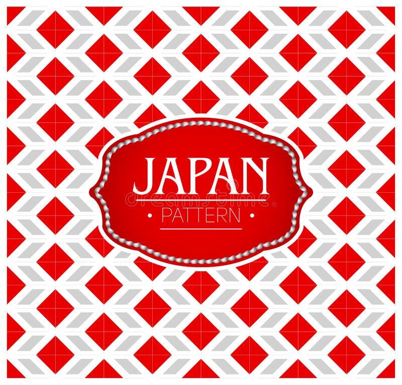 Het Patroon van Japan, Achtergrondtextuur en embleem met de kleuren van de vlag van Japan stock illustratie