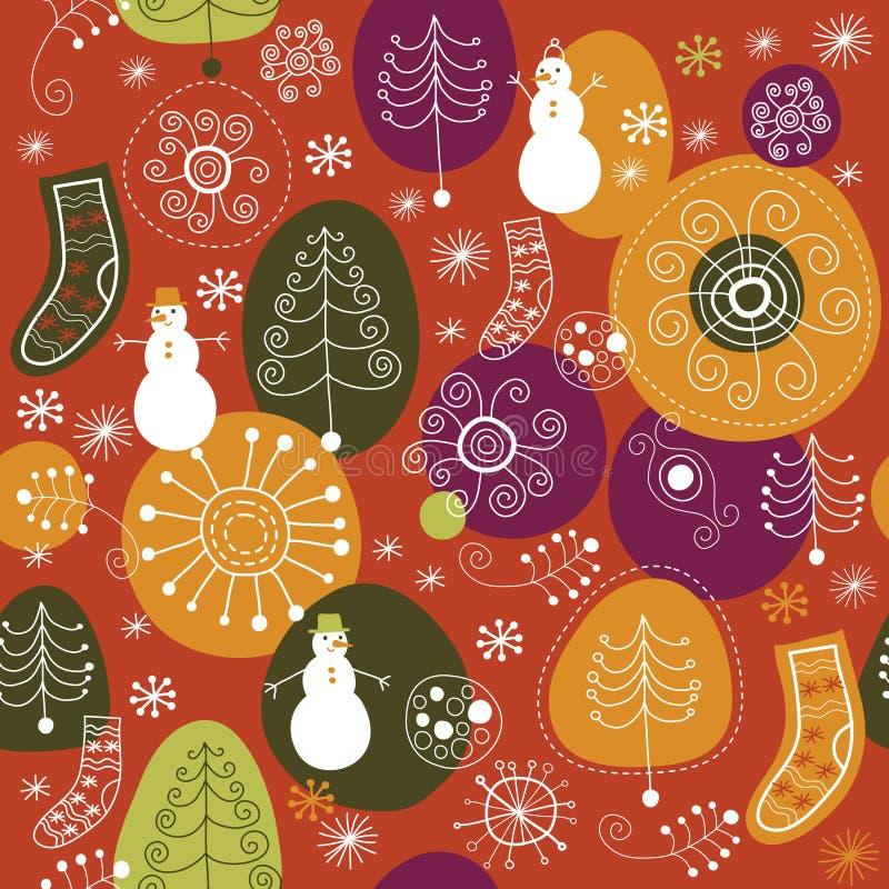 Het patroon van Kerstmis royalty-vrije illustratie