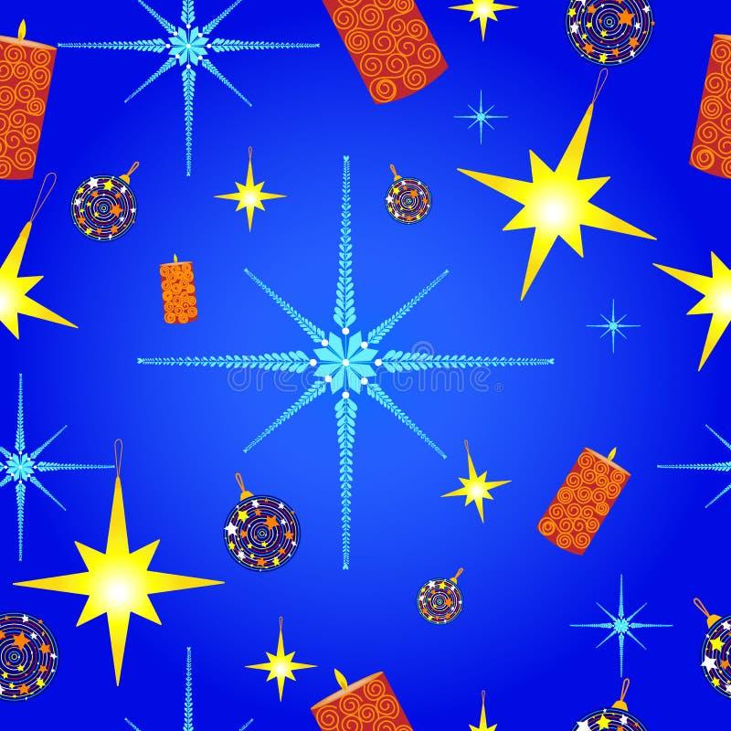 Het Patroon van Kerstmis met Sneeuwvlokken vector illustratie