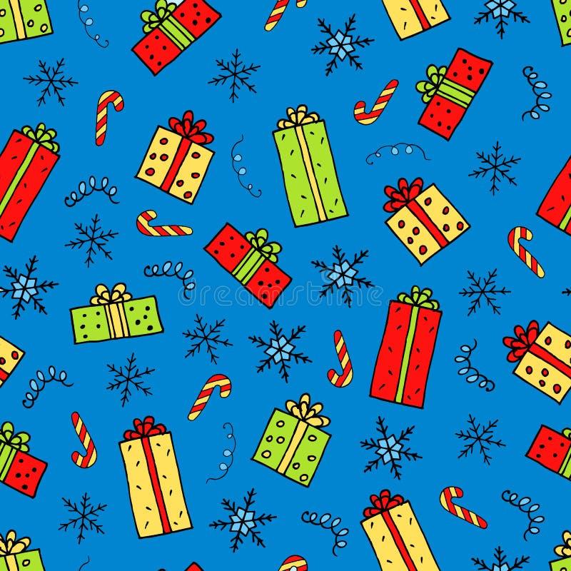 Het patroon van Kerstmisgiften royalty-vrije illustratie