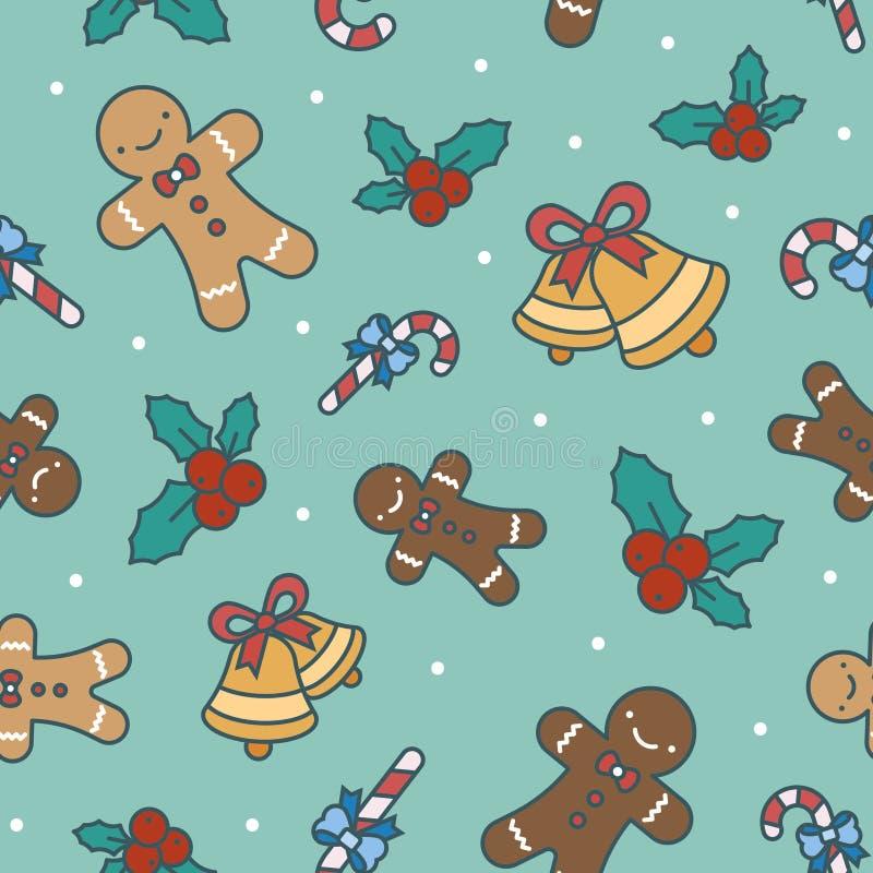 Het patroon van Kerstmissnoepjes stock afbeeldingen