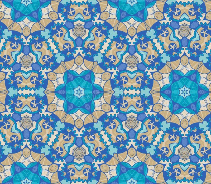 Het patroon van kleurrijke abstracte mandala vormt 19 stock illustratie