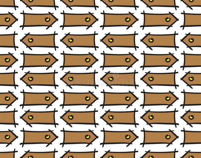 Het patroon van krabbelpijlen stock afbeelding