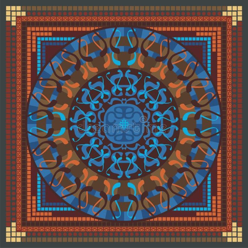 Het Patroon van Mandala stock illustratie