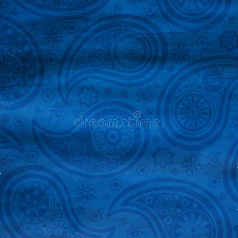 Het patroon van Paisley op waterverfachtergrond royalty-vrije illustratie