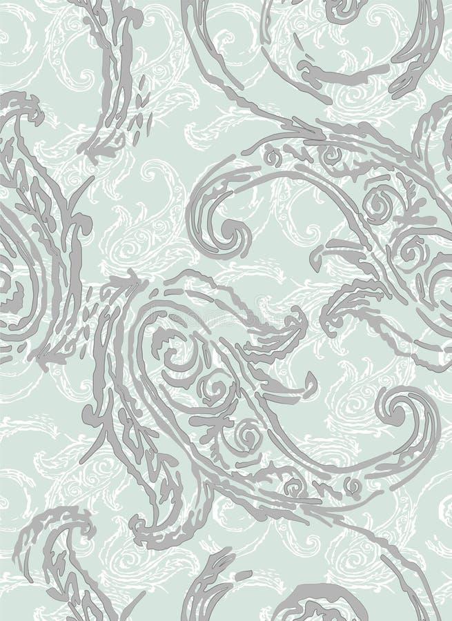 Het patroon van Paisley Traditionele etnische elementen Naadloze ornament Turkse komkommer Aziatische motieven voor manier, binne royalty-vrije illustratie