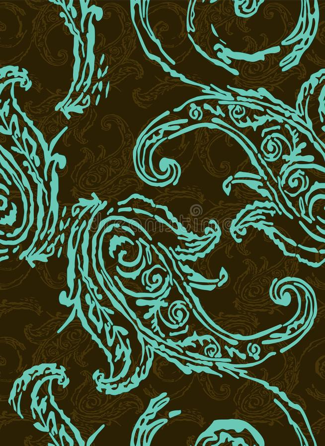 Het patroon van Paisley Traditionele etnische elementen Naadloze ornament Turkse komkommer royalty-vrije illustratie