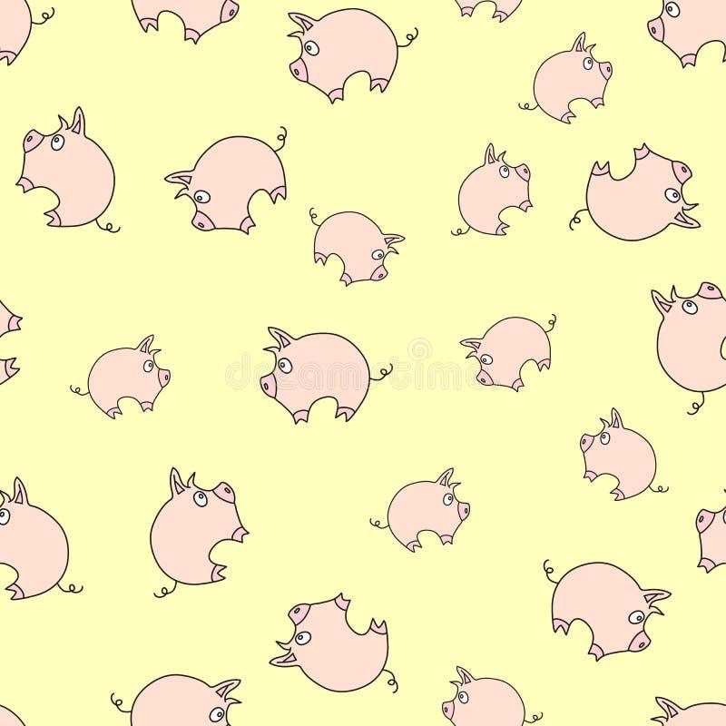 Het patroon van Piggy royalty-vrije illustratie