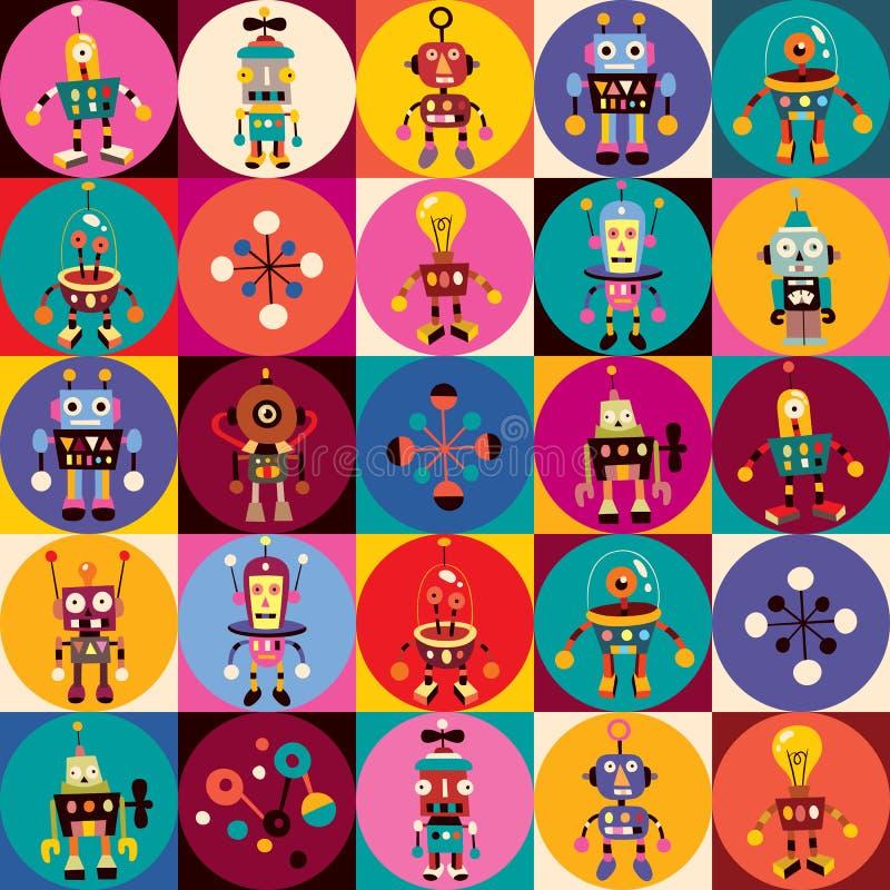 Het patroon van robots royalty-vrije illustratie